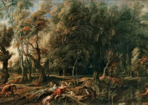 ImagAtalante e MeleagroAtalante e Meleagro caçando o Javali de Cálidon, Peter Paul Rubens ( imagem cedida por MNAA/DGPC)