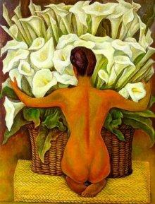 Nude with calla lilies, de Diego Rivera