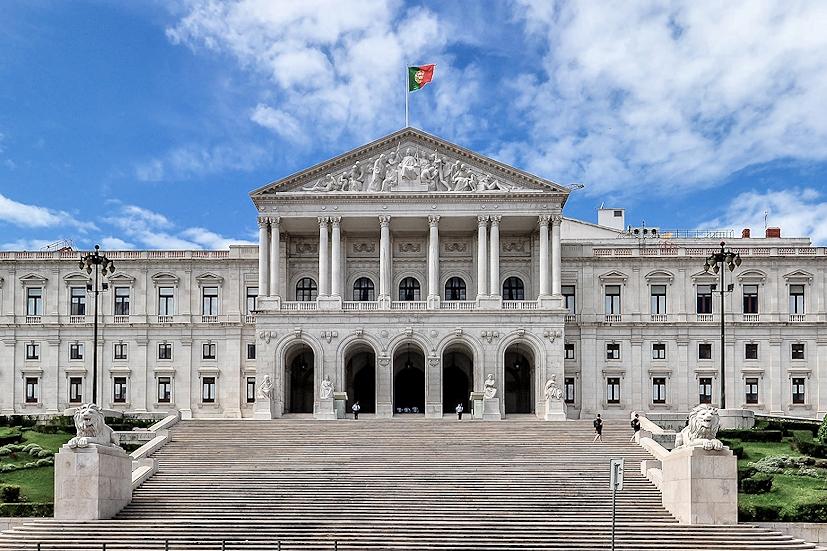 Parlamentsgebäude Lissabon Panorama