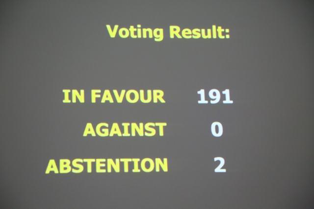 Resultado da votação na Assembleia-Geral da ONU